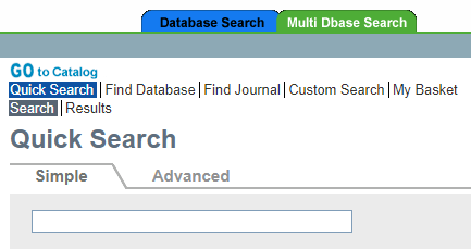 screen shot of the multi dbase search tool